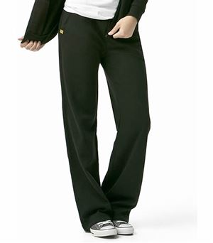 WonderWink Layers Women's Elastic Waist Fleece Track Scrub Pants-5019