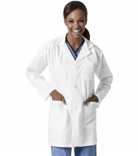 WonderWink Origins Unisex White Lab Coat-7106