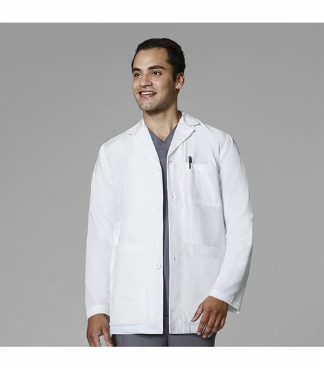 WonderWink Men's White Consultation Lab Jacket-7102