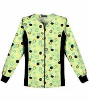 Cherokee Flexibles Women's Zip Up Printed Warm-Up Scrub Jacket-2315