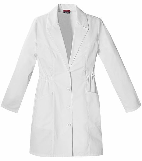 "Dickies EDS Women's 34"" White Lab Coat-84402"
