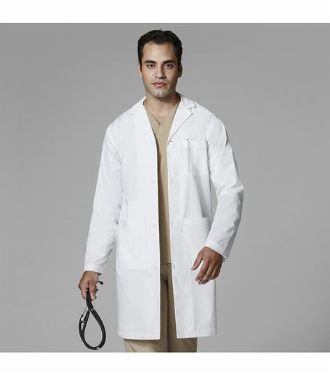 WonderWink Men's Long White Lab Coat-7302