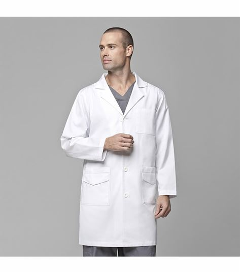 Carhartt Men's 6 Pocket Button Front White Lab Coat-C70503