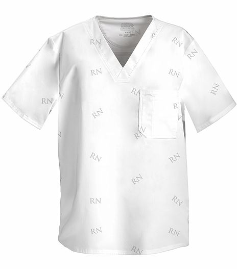 Cherokee WorkWear Core Stretch Men's V-Neck ID Scrub Top-4734