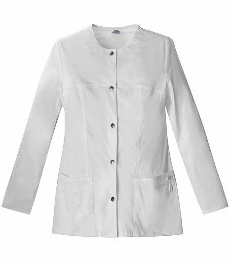 Dickies GenFlex Women's Snap Front Warm-Up Scrub Jacket-82409