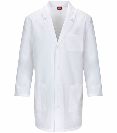 "Dickies EDS 37"" Unisex White Lab Coat-83402"