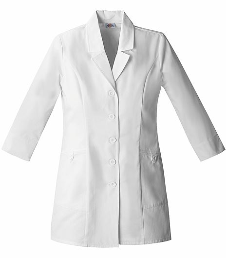"Dickies EDS Women's 31"" White Lab Coat-84407"