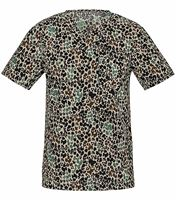 Cherokee Unisex V-Neck Jungle Print Scrub Top-31700C