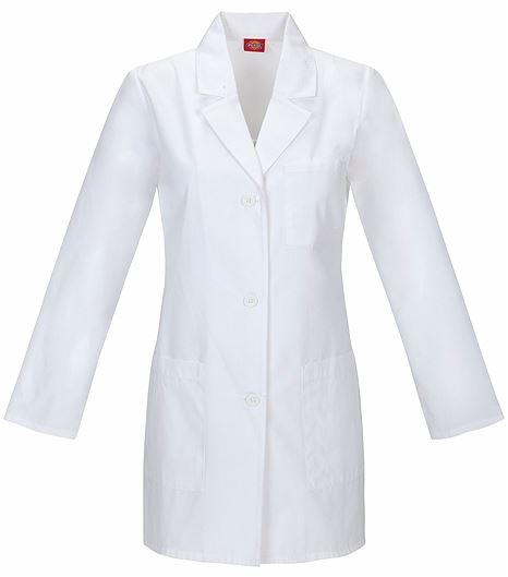 "Dickies EDS Women's 32"" White Lab Coat-84400"