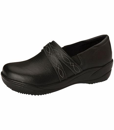 Anywear by Cherokee Women's Leather Slip On Nursing Shoe-MARIAH