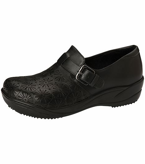 Anywear by Cherokee Women's Leather Slip On Nursing Shoe-MARYANN