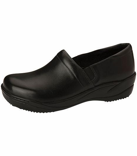 Anywear by Cherokee Women's Leather Slip On Nursing Shoes-MILEY