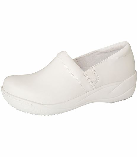 Anywear by Cherokee Women's Leather Slip On Nursing Shoes-MILEY