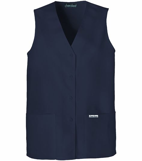 Cherokee Button Front Vest 1602