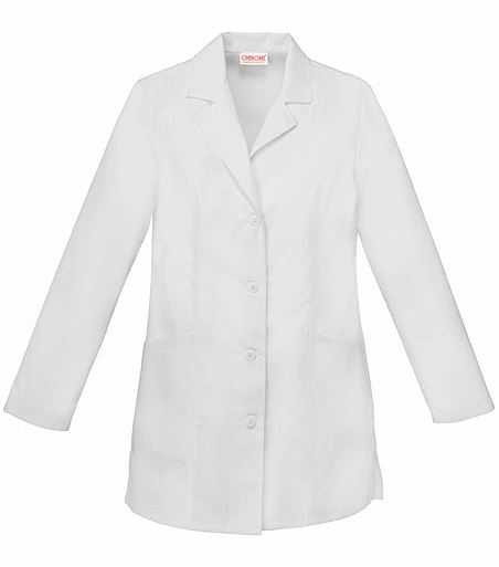 Cherokee Fashion Women's 32 Inch White Lab Coat-2300