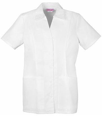 Cherokee Women's Button Up Collared White Scrub Top-2879