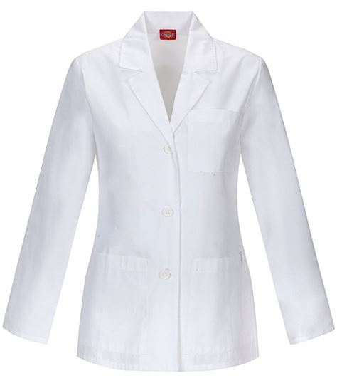 "Dickies EDS Women's 28"" White Lab Coat-84401"