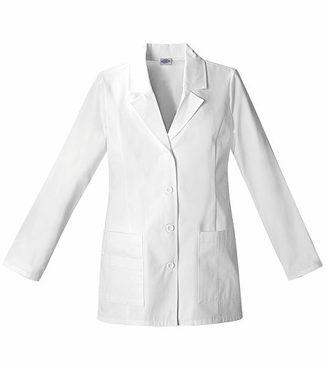 "Dickies EDS Women's 29""  White Lab Coat-84406"