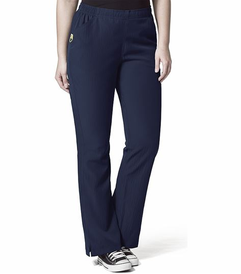 WonderWink PLUS Women's Elastic Waist Flare Leg Scrub Pants-5205