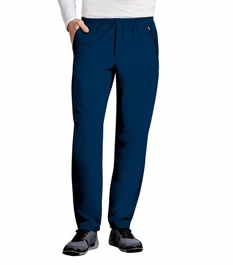 Barco One Men's Athletic Elastic Waist Cargo Scrub Pants-0217