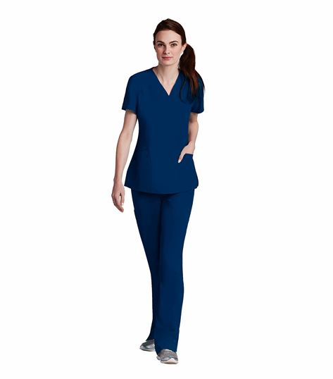 Barco One Women's Solid V-Neck Scrub Top-5106