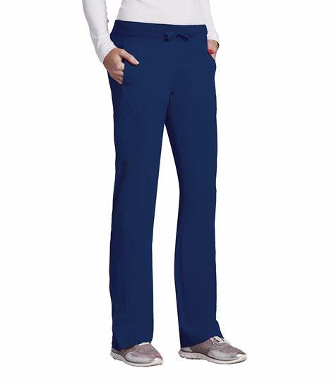 Barco One Women's 4 Pocket Straight Leg Drawstring Scrub Pants-5205