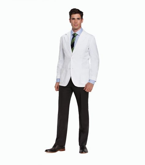 "Mr. Barco Men's 30"" Tailored Fit White Lab Coat-0619"