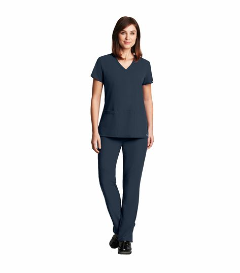 Grey's Anatomy Signature Women's Criss-Cross V-Neck Solid Stretch Scrub Top-2115