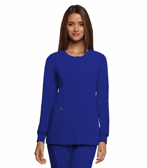 Barco Grey's Anatomy Women's Snap Front Warm-Up Scrub Jacket-2407