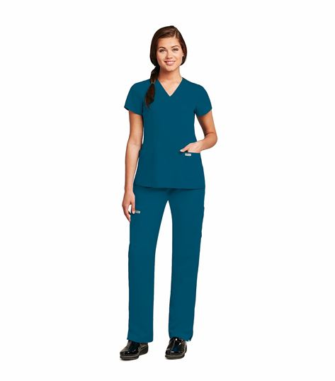 Grey's Anatomy Women's  Mock Wrap Legend Scrub Top-41101