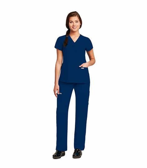 Grey's Anatomy Women's  Mock Wrap Legend Scrub Top-41101