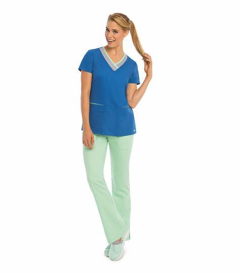 Grey's Anatomy Active 3 Pocket Color Block V-neck Top 41399