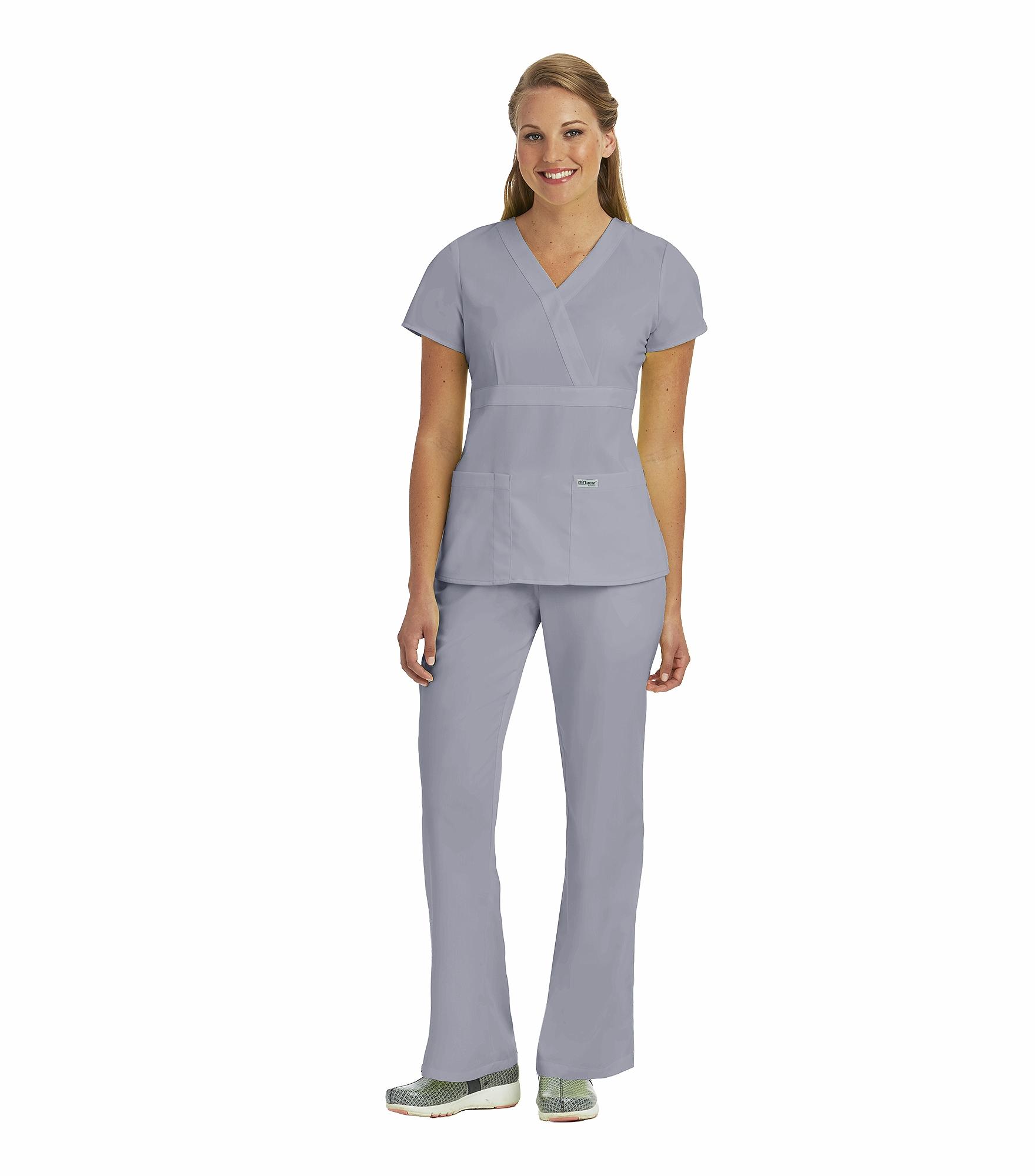 Grey\'s Anatomy Women\'s Mock Wrap Empire Waist Scrub Top-4153 ...