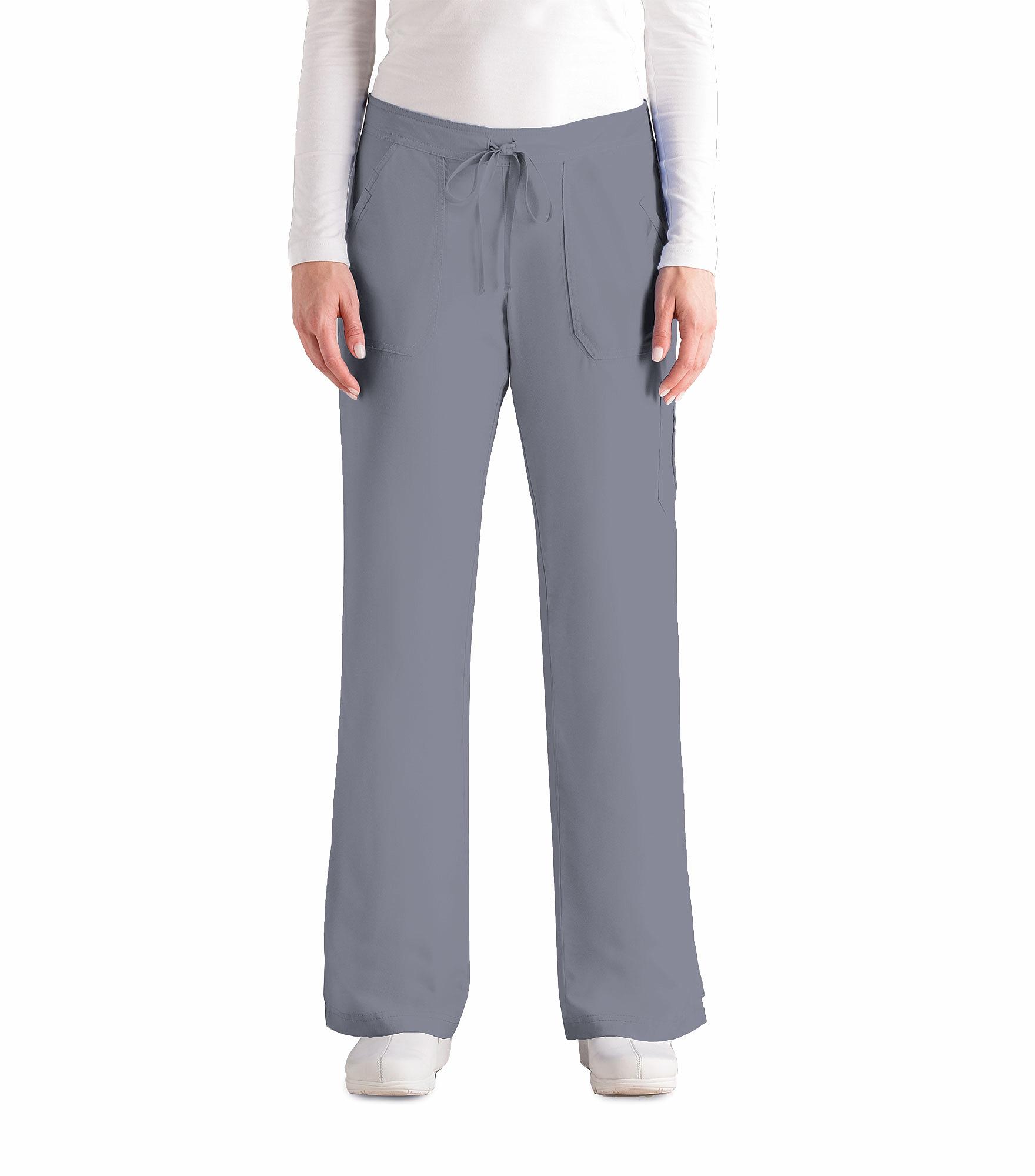 Grey\'s Anatomy Women\'s Flare Leg Elastic Back Cargo Scrub Pants-4245 ...