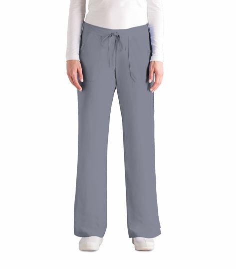 Grey's Anatomy Women's Flare Leg Elastic Back Cargo Scrub Pants-4245