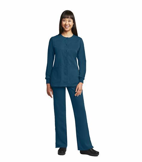 Barco Grey's Anatomy Women's Snap Front Warm-Up Scrub Jacket-4450