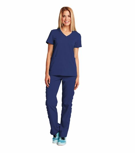 KD110 Women's 6 Pocket V-Neck Solid ScrubTop-8102