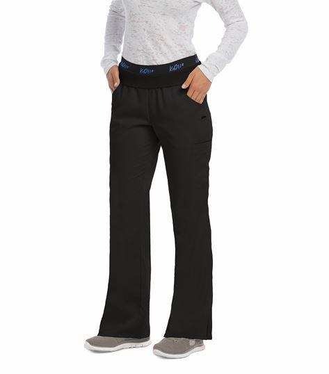 KD110 Women's Flip Waist Elastic Band Flare Leg Scrub Pants-8202