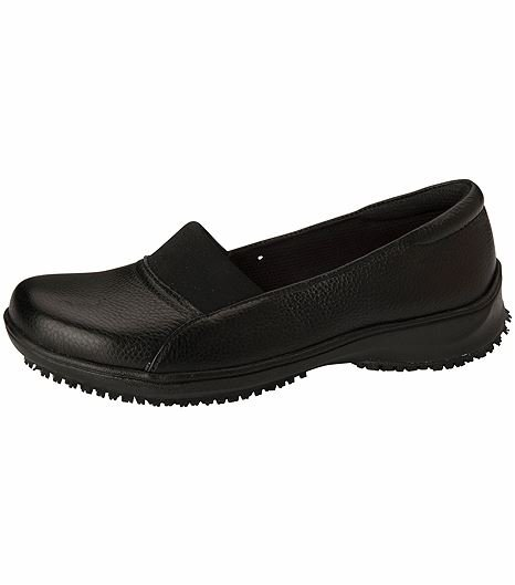 Anywear by Cherokee Women's Leather Slip On Nursing Shoes-NICKI