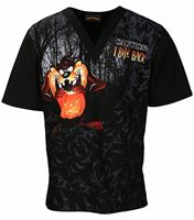 Tooniforms Halloween Unisex V-Neck Scrub Top-TF606XB6