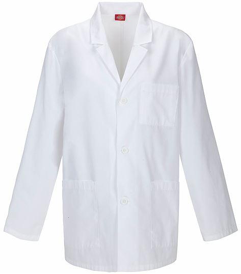 """Dickies EDS Men's 31"""" White Consultation Lab Coat-81404"""