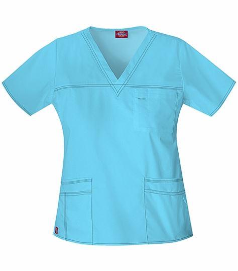 Dickies GenFlex Women's V-Neck Scrub Top-817455
