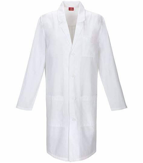 "Dickies EDS 40"" Unisex White Antimicrobial Lab Coat-83403A"