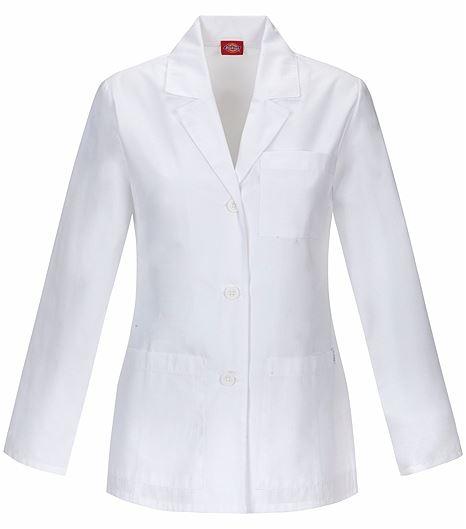 "Dickies EDS Women's 28"" White Lab Coat-84401"