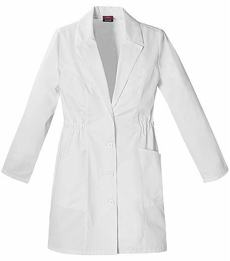 "Dickies EDS Women's 34"" White Lab Coat-84402"