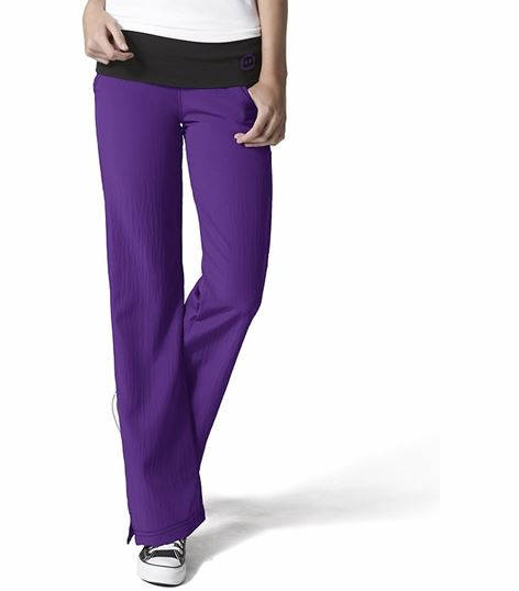 WonderWink Four-Stretch Women's Flare Leg Yoga Scrub Pants-5514