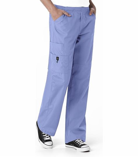 WonderWink Origins Men's Pull Cord Waist Cargo Scrub Pants-5716