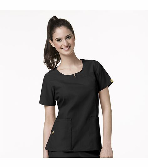 WonderWink Origins Round Neck Chest Pocket Top 6046