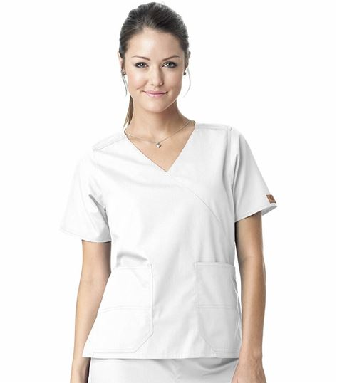 Carhartt Premium Women's Solid Mock Wrap Scrub Top-C10201