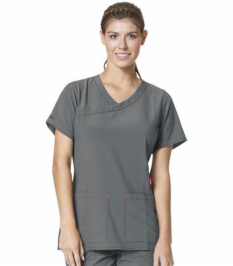 Carhartt Crossflex Women's Mock Wrap Solid Scrub Top-C12210